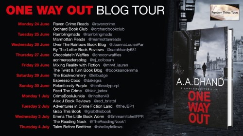 One Way Out Blog Tour Poster